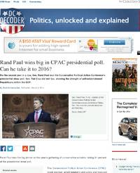 Rand Paul wins big in CPAC presidential poll: Christian Science Monitor